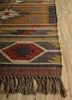 bedouin gold jute and hemp flat weaves Rug - Corner