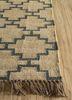indusbar ivory jute and hemp flat weaves Rug - Corner