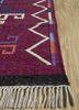 bedouin red and orange wool flat weaves Rug - Corner