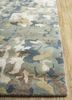 transcend blue wool and viscose hand tufted Rug - Corner