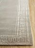azalea beige and brown wool and bamboo silk hand knotted Rug - Corner