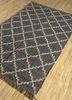 indusbar blue jute and hemp flat weaves Rug - FloorShot