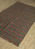 aqua green jute and hemp flat weaves Rug - FloorShot