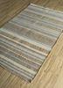 aqua beige and brown jute and hemp flat weaves Rug - FloorShot