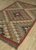 bedouin red and orange jute and hemp flat weaves Rug - FloorShot
