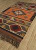 bedouin pink and purple jute and hemp flat weaves Rug - FloorShot