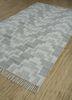 indusbar grey and black wool flat weaves Rug - FloorShot