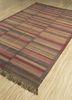 aqua gold wool flat weaves Rug - FloorShot