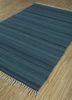 aqua green wool flat weaves Rug - FloorShot