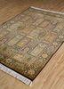 gulmarg gold silk hand knotted Rug - FloorShot