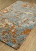 transcend gold wool and viscose hand tufted Rug - FloorShot