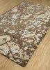 transcend beige and brown wool and viscose hand tufted Rug - FloorShot