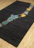 oscar grey and black wool and viscose hand tufted Rug - FloorShot
