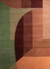 geode green wool hand knotted Rug - HeadShot