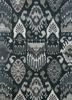 verna grey and black wool hand knotted Rug - HeadShot
