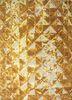 mezcla gold wool and bamboo silk hand knotted Rug - HeadShot