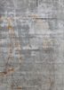 LU-54 Soft Gray/Cumin grey and black wool and bamboo silk hand knotted Rug