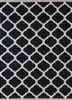 PDCT-59 Ebony/White grey and black cotton flat weaves Rug