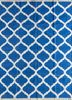 PDCT-59 Dazzling Blue/White blue cotton flat weaves Rug