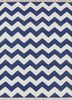 PDCT-63 True Navy/White blue cotton flat weaves Rug