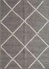 SDJT-166 Silver/White beige and brown jute and hemp flat weaves Rug