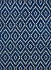 SDWL-148 Blue Berry/White blue wool flat weaves Rug