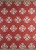 SDWL-327 Russet/White red and orange wool flat weaves Rug