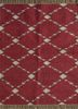 SDWL-342 Red/Twine red and orange wool flat weaves Rug