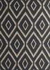 SDWL-378 Black Olive/Soft Gray grey and black wool flat weaves Rug
