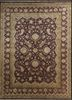 aurora gold wool and silk hand knotted Rug - HeadShot