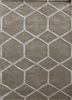 TAQ-195 Silver Gray/Classic Gray beige and brown wool and viscose hand tufted Rug