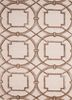 TAQ-234 Antique White/Beige ivory wool and viscose hand tufted Rug