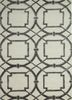 TAQ-234 Antique White/Liquorice ivory wool and viscose hand tufted Rug