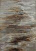 TAQ-4305 Ashwood/Light Peach grey and black wool and viscose hand tufted Rug