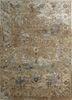 TAQ-622 Dark Ivory/Tan ivory wool and viscose hand tufted Rug