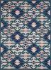 TRA-13085 Teal Blue/Deep Navy blue wool hand tufted Rug