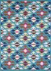 TRA-13085 Caribbean Sea/White blue wool hand tufted Rug