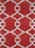 TRA-13156 Classic Rust/White red and orange wool hand tufted Rug
