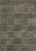 shudd grey and black wool and viscose hand tufted Rug - HeadShot