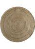 SDJT-161 Natural/Natural beige and brown jute and hemp flat weaves Rug