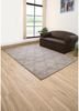 contour beige and brown wool hand tufted Rug - RoomScene